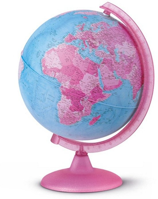 bol.com | Wereldbol roze met verlichting, Merkloos | Speelgoed