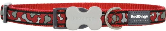 Red Dingo Halsband Hond 15mm 24-36cm DC-BR-RE-15