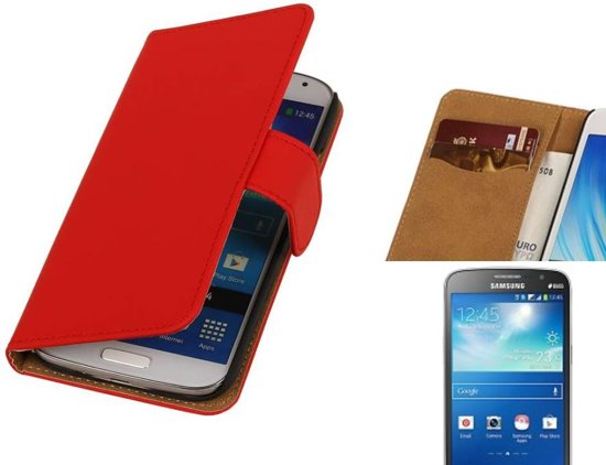 MP Case Bookstyle Hoes voor Galaxy Grand 2 G7102 Rood in Looperskapelle