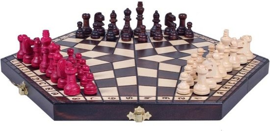 Afbeelding van het spel Schaakset voor 3 spelers, koningshoogte 55mm