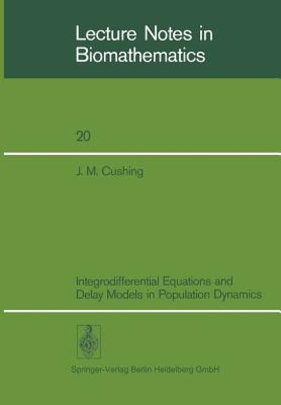 Integrodifferential Equations and Delay Models in Population Dynamics