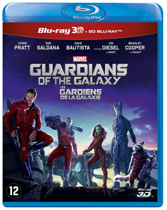 DVD cover van Guardians of the Galaxy (3D & 2D Blu-ray)