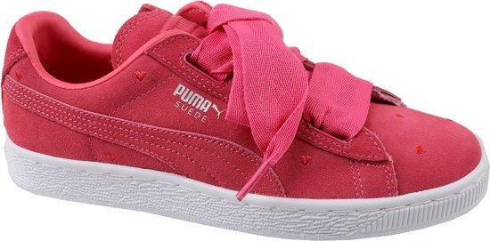 Puma Suede Heart Jr 365135-01, Vrouwen, Rood, Sneakers maat: 38.5 EU