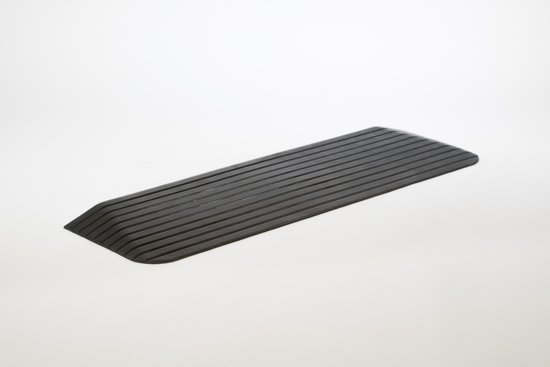 Rubber drempelhulp 7,6 cm met schuine zijvlakken