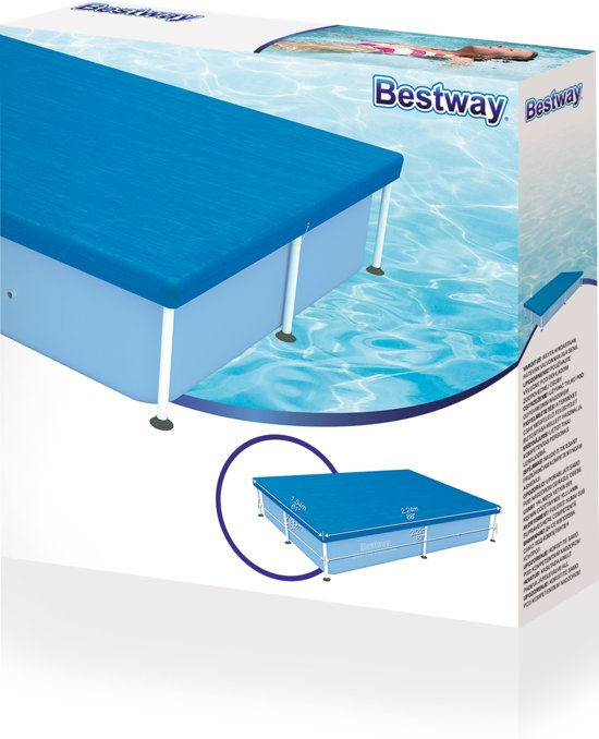 Bestway Frame Pool Afdekking 224x154cm - Zwembad afdekzeil