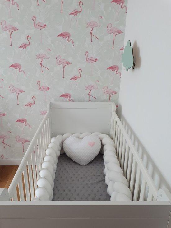 Bed bumper knoop | Wit - 3,5 meter