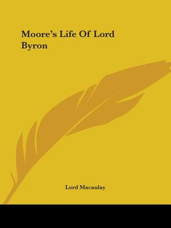 Moore's Life Of Lord Byron