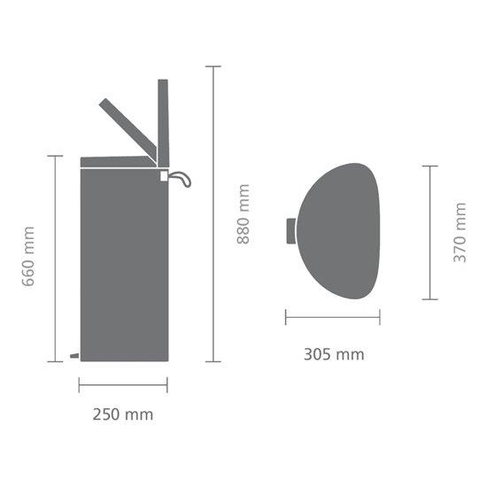 Brabantia Pedaalemmer FlatBack 30 Liter Mineral Mint