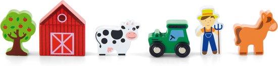 Viga Toys - Treinbaan Accessoireset - Boerderij - 6 delig