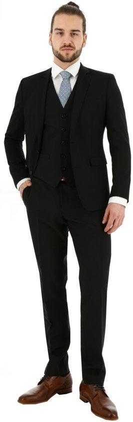 3-delig zuiver wollen kostuum zwart #P216, maat 68