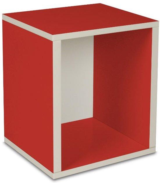 Way Basics Cube Plus Boekenkast Rood Set Van 2