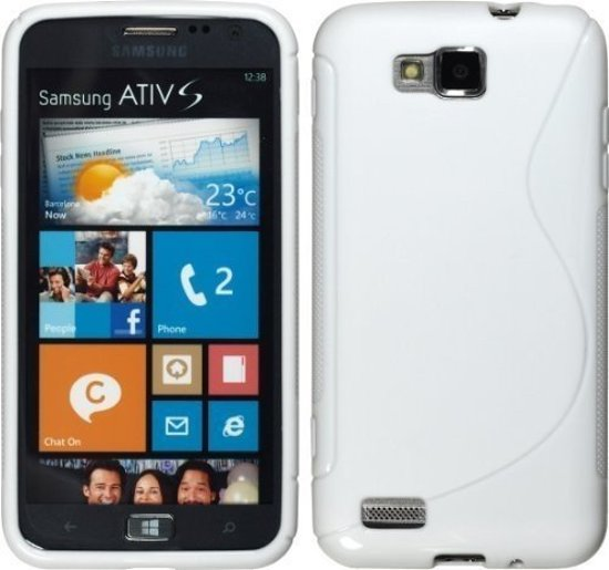 Samsung Ativ S Silicone Case hoesje s-style Wit