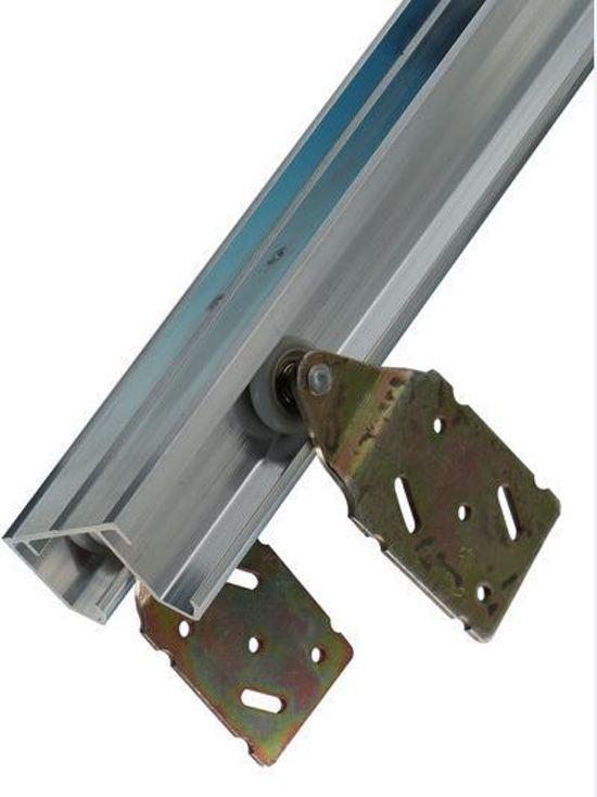 Henderson Schuifdeurbeslag - 240 cm aluminium bovenrails – Voor 3 deuren – Max 45 kg per deur