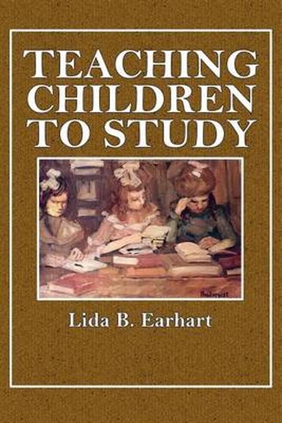 Teaching Children to Study