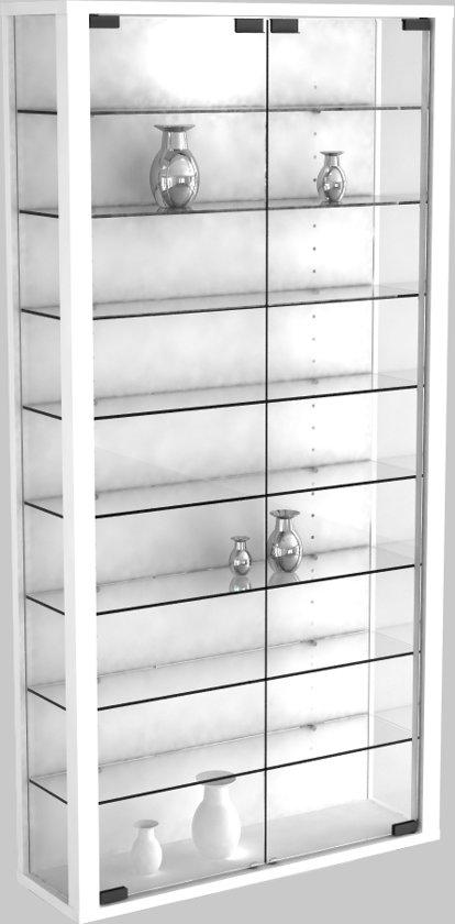 Vitrinekast Voor Modelbouw.Bol Com Vitrinekast Wandvitrine Vitrosa Maxi Met Led Verlichting Wit