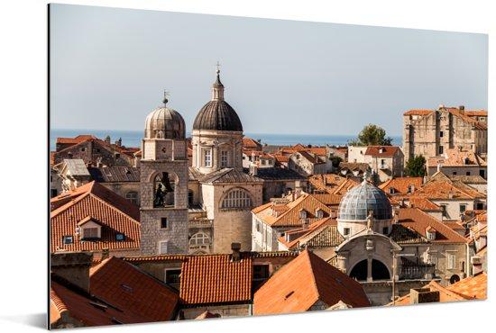 Uitzicht vanaf de stadsmuren Dubrovnik Aluminium 120x80 cm - Foto print op Aluminium (metaal wanddecoratie)