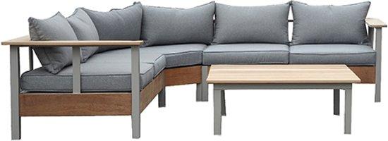 garden impressions vision lounge set 4 delig teak sand. Black Bedroom Furniture Sets. Home Design Ideas
