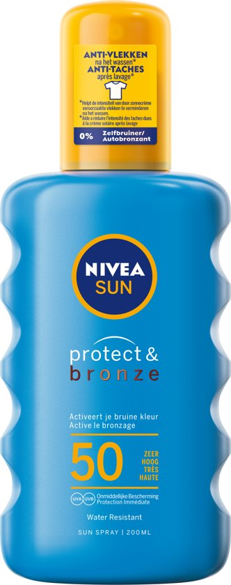 NIVEA SUN Zonnebrand Protect & Bronze Zonnespray - SPF 50 - 200 ml
