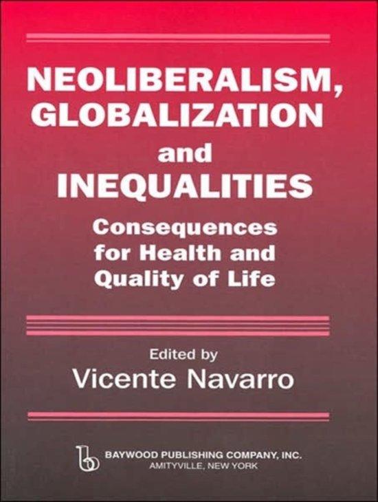 Neoliberalism, Globalization, and Inequalities