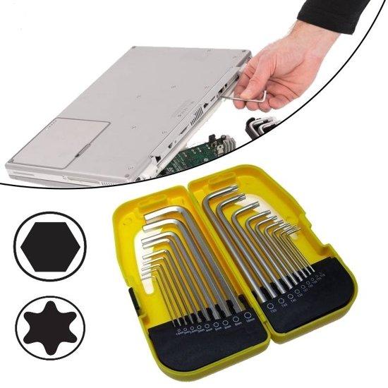 Sleutel torx en inbus set lang sleutelset in stevige doos 18 delig Tools