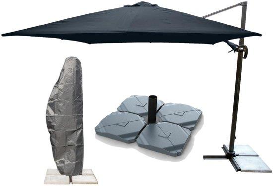 Genoeg bol.com | Kopu® Zweefparasol Vigo met hoes en voet - 250x250 cm ZF96