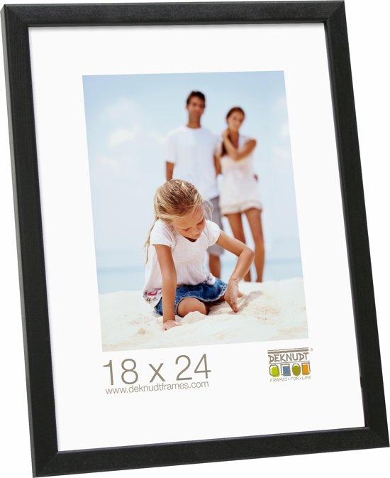 Bolcom Deknudt Frames Zwart Smalle Lijst In Hout Fotomaat 30x40 Cm