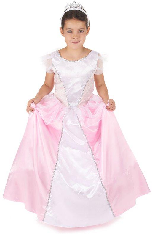 Roze en witte prinsessen kostuum voor meiden - Verkleedkleding - Maat 104/116