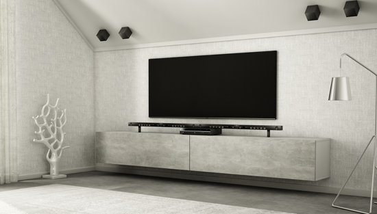 Tv Meubel En Kast.Bol Com Az Home Tv Meubel Tv Kast Hardy Xl 280 Cm Wit