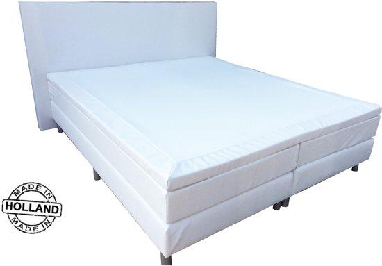 anda boxspring inclusief matras 120x200 cm kunstleer wit. Black Bedroom Furniture Sets. Home Design Ideas
