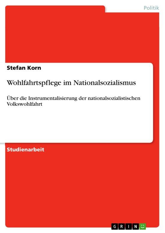 Wohlfahrtspflege im Nationalsozialismus