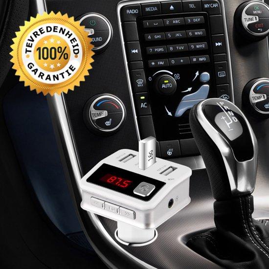 5 in 1 Draadloze Bluetooth Carkit - Auto MP3 Speler | FM transmitter | LED Display | Handsfree bellen | 3 x (High Speed) USB Oplader | SD,TF Card Ondersteuning | USB Stick | 3.5mm Jack AUX voor alle smartphones in Noordbroek