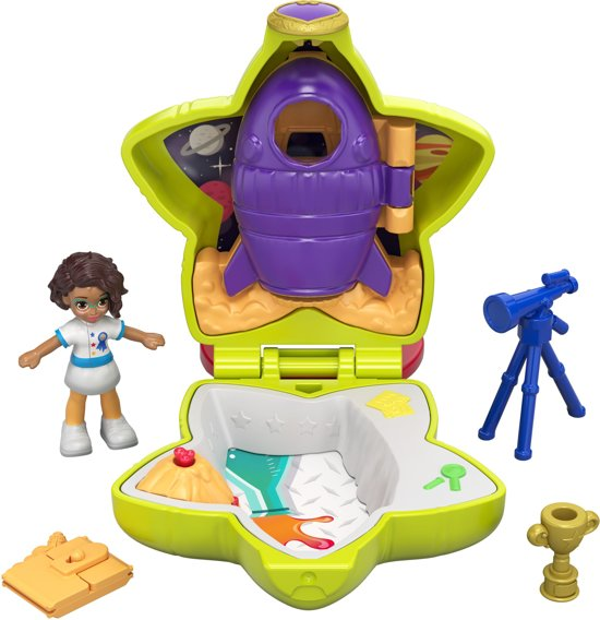 Polly Pocket Tiny Pocket Places Shani's Ruimtecetrum - Micro Speelfigurenset