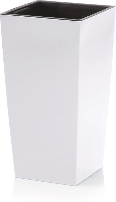 Plastic Bloempot Wit.Bol Com Bloempot Hoog Vierkant Urbi Square 27x27x50cm Wit Prosperplast