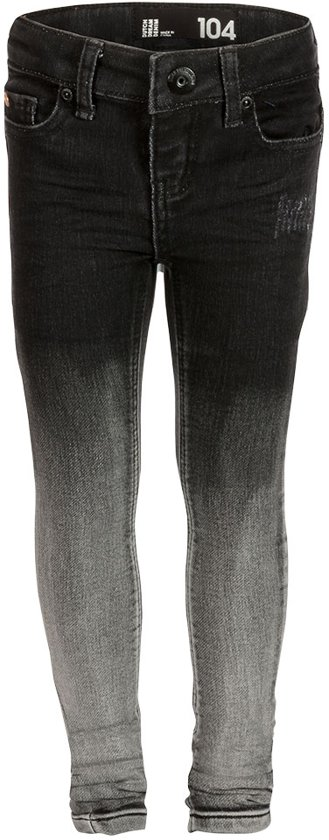 Dutch Dream Denim Meisjes Jeans - Zwart - Maat 140