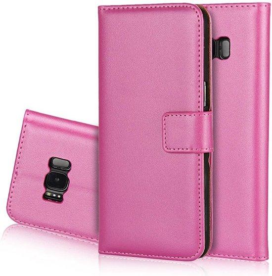 GSMWise - Samsung Galaxy S8 - PU Lederen Portemonnee Case Cover met Kaarthouder - Rose in Grootschermer