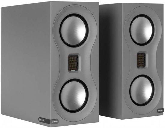 Monitor Audio Studio - Boekenplank Luidspreker - Grijs