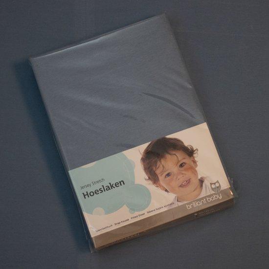 Jersey hoeslaken 70x140/150 bleu
