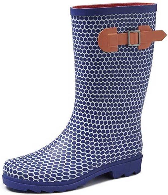Regenlaarzen Mt 37 Blauw Abby Dames Gevavi Boots Rubber wBS1q1