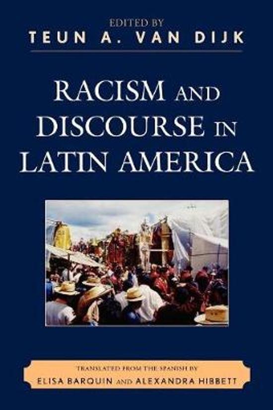Boek cover Racism and Discourse in Latin America van Teun A. Van Dijk (Paperback)