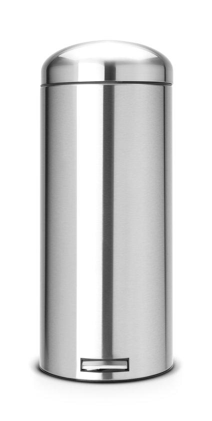Brabantia Pedaalemmer Retro Bin.Brabantia Retro Bin Silent Prullenbak 30 L Matt Steel Fingerprint Proof