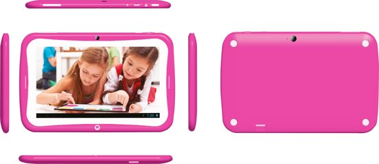 Roze Kinder Tablet.Waiky Power Tab 7 Inch Kindertablet 8gb Roze