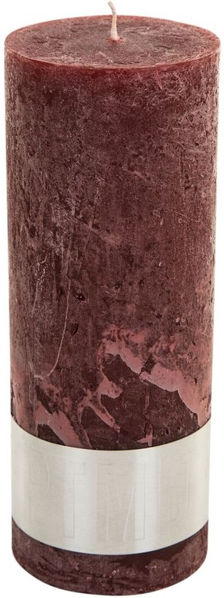 PTMD Kaars Rustic red pillar candle 18x7