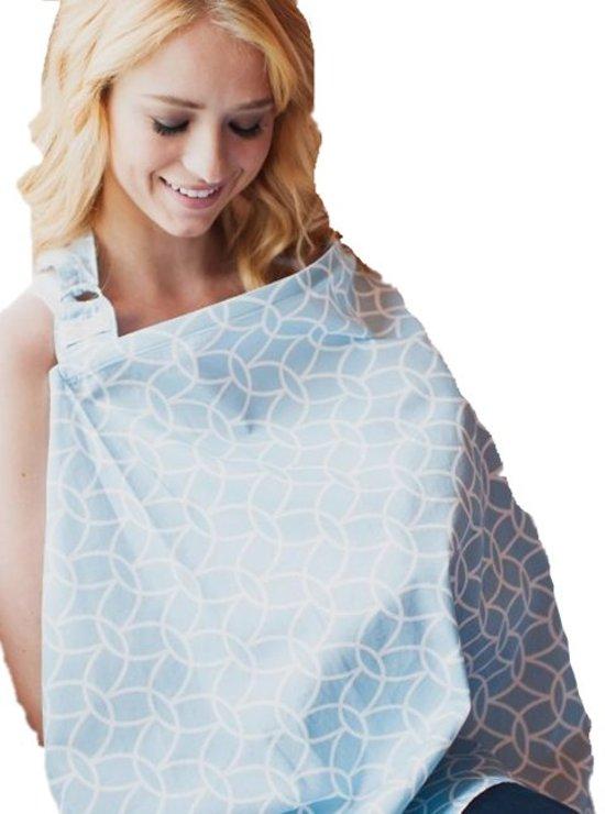 Udder Covers Borstvoedingsdoek Sloane - Lichtblauw/Wit