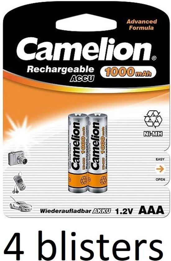Camelion oplaadbare  batterijen AAA (1000 mah) - 8 stuks