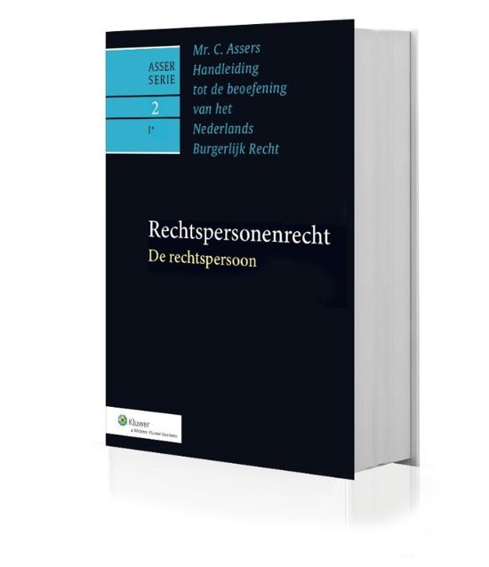 Boek cover Asser serie 2-1 - Rechtspersonenrecht 2-1 De rechtspersoon van M.J. Kroeze (Onbekend)