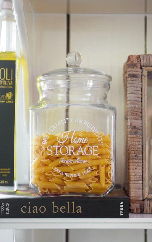 Verwonderlijk bol.com | Rivièra Maison Home Storage Pot - Voorraadpot - Glas IF-05