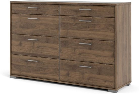 Holle kommode 8 lades walnoot decor.