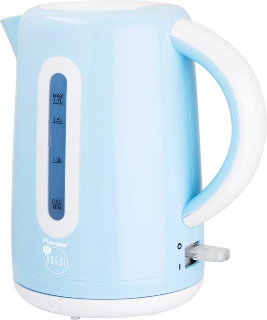 Bestron Draadloze Waterkoker 1,7 L 2200 W blauw AWK300EVB
