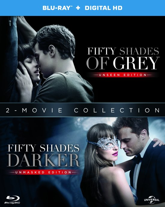 DVD cover van Fifty Shades Grey + Fifty Shades Darker (Blu-ray)