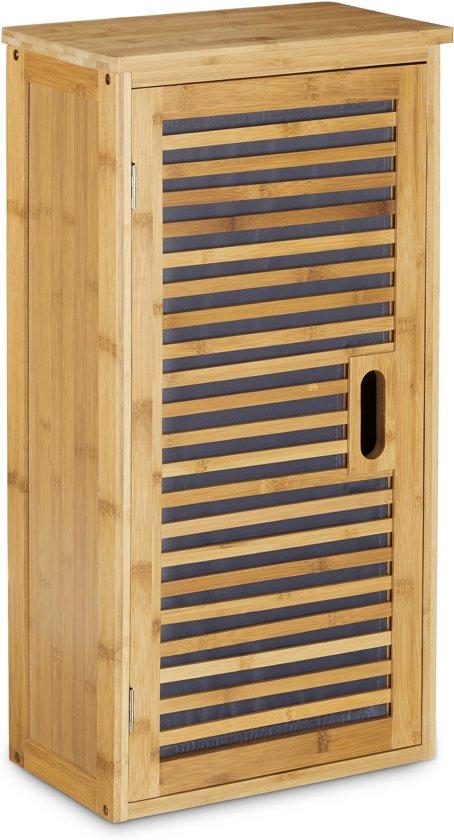 bol.com | relaxdays badkamerkast bamboe badkamer kast rek ...